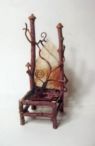 Miniature fairy twig chair
