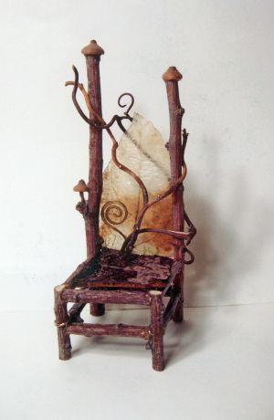 Miniature fairy twig chair